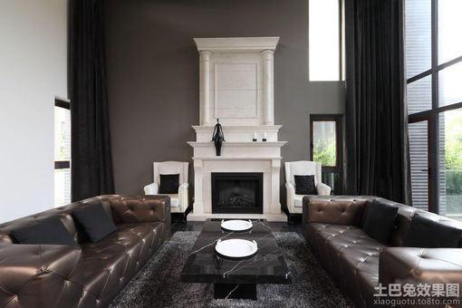 黑白灰 简约客厅 装修效果图 图片 hao123网址