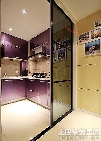 推拉门小厨房装修效果图大全2013图片