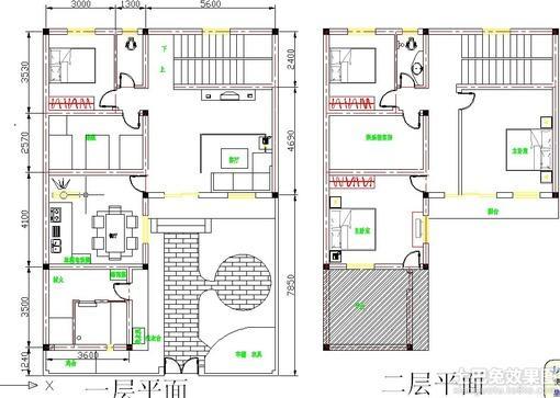 房子设计图图片 农村12 10米设计图纸,长10米宽9米房子图纸