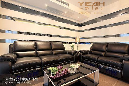 2013现代 客厅皮沙发 摆放背景墙效果图 图片 高清图片