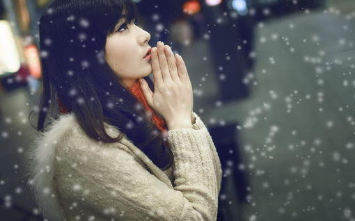 冬季清纯mm唯美可爱写真手机壁纸