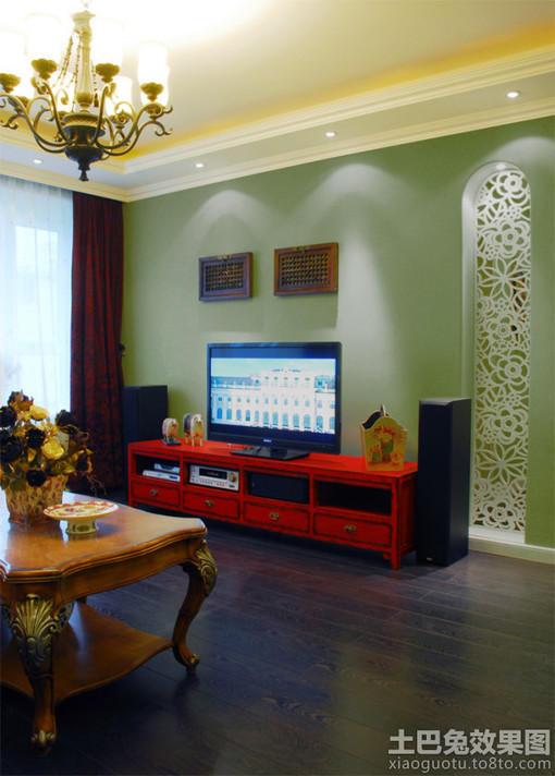 客厅电视背景墙装修效果图大全2012图片(16)_
