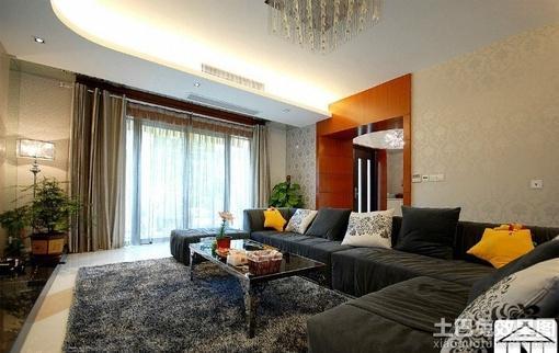 现代简装120平米三居室装修效果图 hao