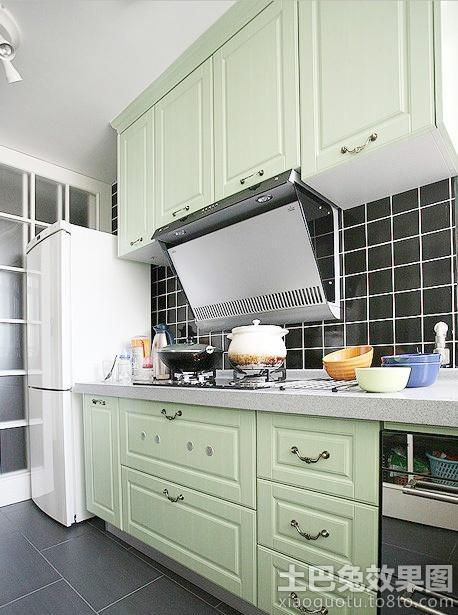 新 中式 二居厨房 橱柜颜色 效果图 hao123