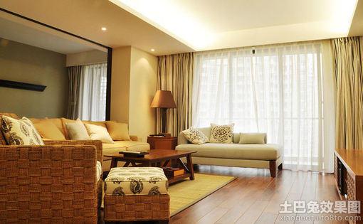 简中式风格客厅装修效果图大全 图片 hao123